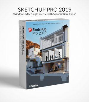 SketchUp Pro 2019 Win Mac Annual