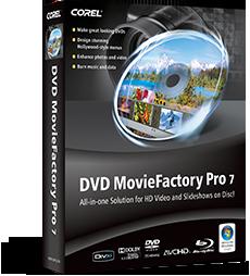 COREL DVD MovieFactory Pro 7