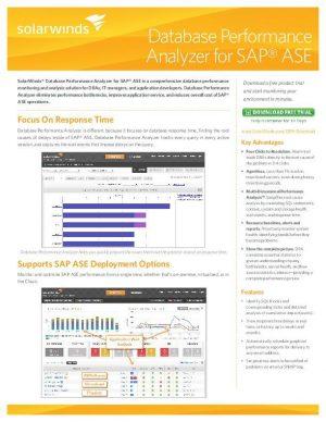 Database Performance Analyzer for SAP ASE