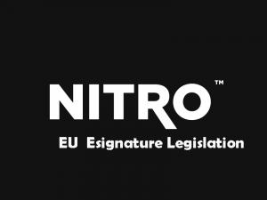 EU Esignature Legislation