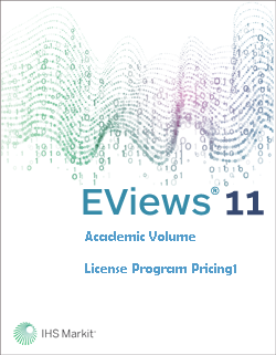 EViews 11 Academic Volume License Program Pricing1