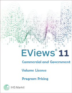 EViews 11 Commercial and Government Volume License Program Pricing