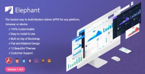 Elephant Dashboard and Admin Site Responsive Template