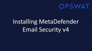 MetaDefender Email Gateway Security