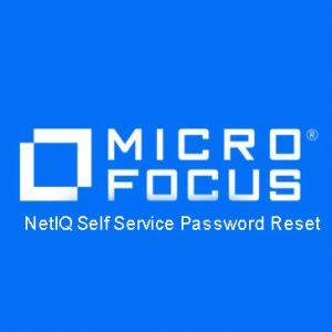 NetIQ Self Service Password Reset