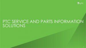 PTC Service Knowledge and Diagnostics business benefits