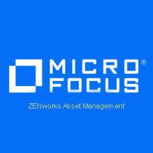 ZENworks Asset Management